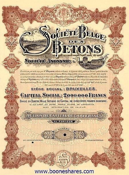 BETONS S.A., SOC. BELGE DES