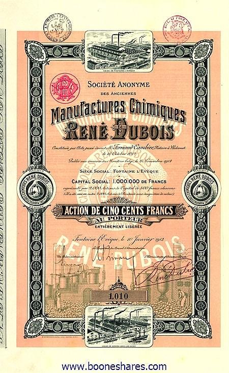 MANUFACTURES CHIMIQUES RENE DUBOIS, S.A. DES ANCIENNES
