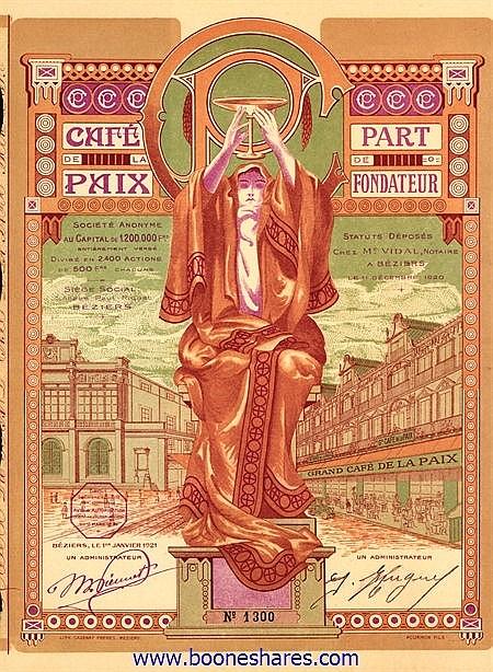 GRAND CAFE DE LA PAIX S.A.