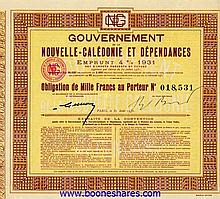 GOUVERNEMENT DE LA NOUVELLE-CALEDONIE ET DEPENDANCES