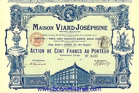 MAISON VIARD-JOSEPHINE S.A.