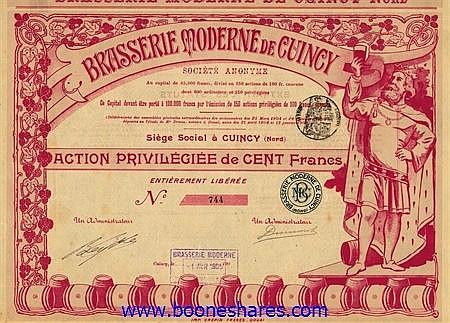 BRASSERIE MODERNE DE CUINCY S.A.