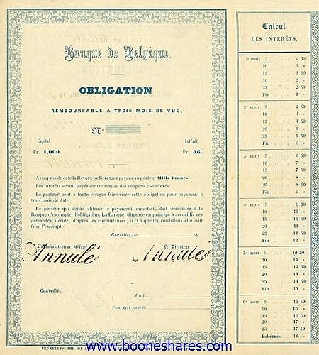 BANQUE DE BELGIQUE