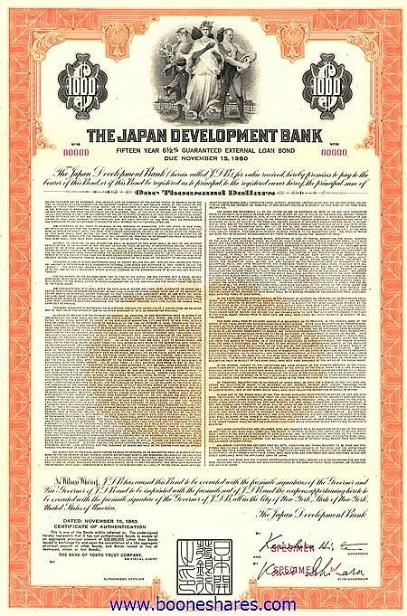 JAPAN DEVELOPMENT BANK
