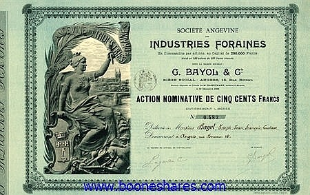 INDUSTRIES FORAINES, SOC. ANGEVINE