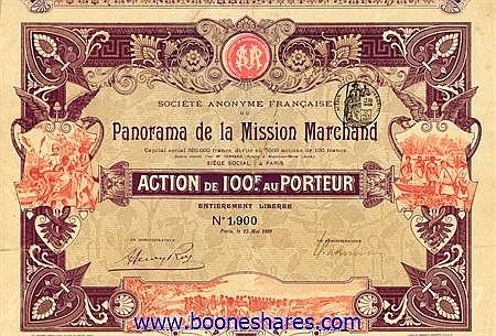 PANORAMA DE LA MISSION MARCHAND