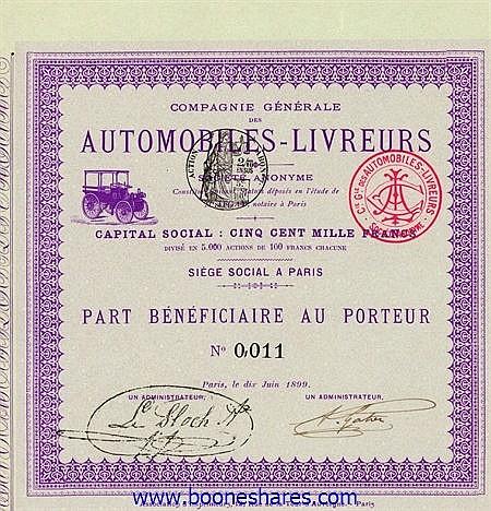 AUTOMOBILES-LIVREURS, CIE. GENERALE