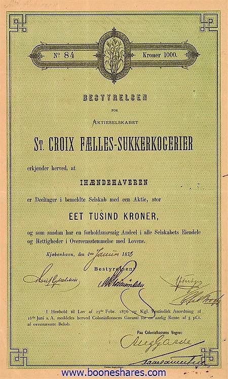 ST. CROIX FAELLES-SUKKERKOGERIER