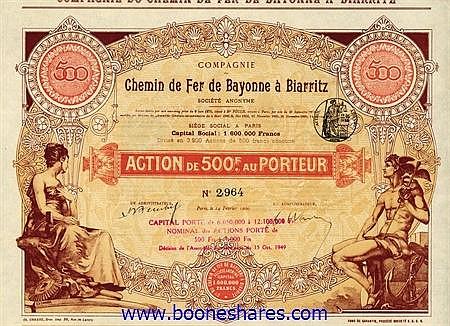 C.D.F. DE BAYONNE A BIARRITZ S.A., CIE.