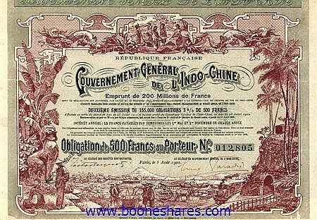 GOUVERNEMENT GENERAL DE L'INDO-CHINE, REPUBLIQUE FRANCAISE