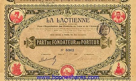 LA LAOTIENNE S.A. POUR L'EXPLOITATION DES PRODUITS DU LAOS ET DE L'ANNAM