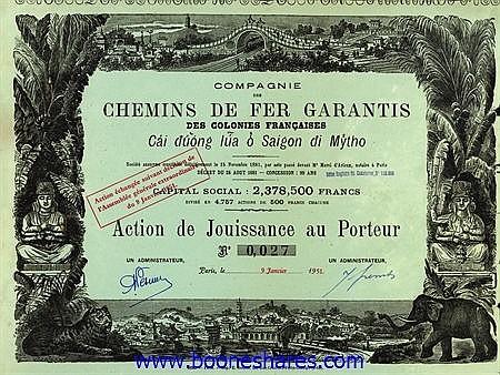 C.D.F. GARANTIS DES COLONIES FRANCAISES - CAI DUONG LUA O SAIGON DI MYTHO