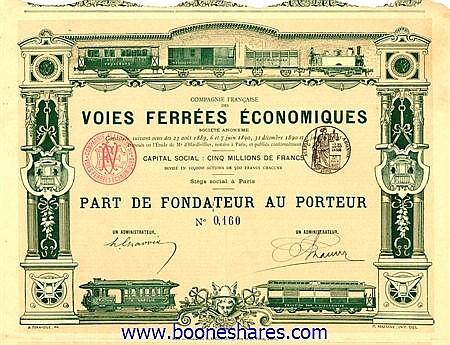 VOIES FERREES ECONOMIQUES S.A.
