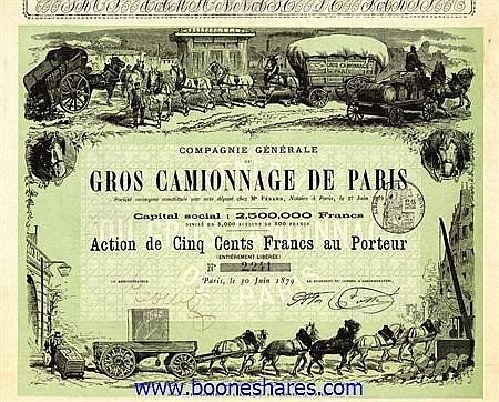 GROS CAMIONNAGE DE PARIS S.A.