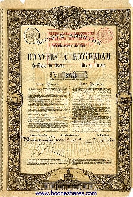 C.D.F. D'ANVERS A ROTTERDAM, S.A. DES