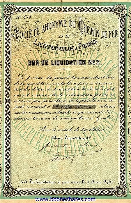 C.D.F. DE LICHTERVELDE A FURNES S.A.
