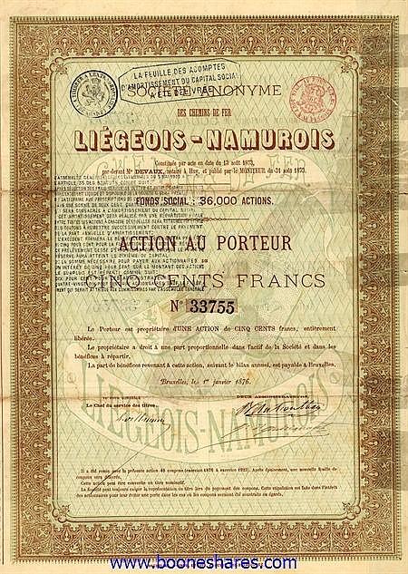 C.D.F. LIEGEOIS-NAMUROIS, S.A. DES