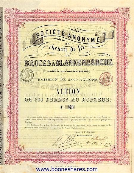 C.D.F. DE BRUGES A BLANKENBERGHE (2 types)