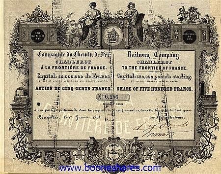 C.D.F. DE CHARLEROY A LA FRONTIERE DE FRANCE, CIE. DU