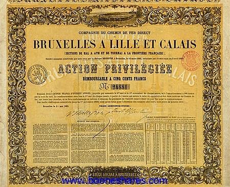 C.D.F. DIRECT DE BRUXELLES A LILLE ET CALAIS, CIE. DU - SECTIONS DE HAL A ATH ET DE TOURNAI A LA FRONTIERE FRANCAISE