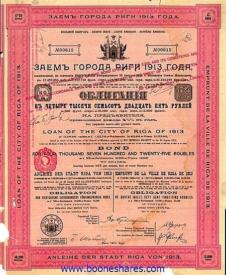 STADT RIGA 1913
