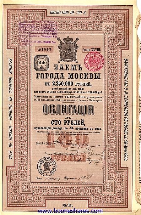 VILLE DE MOSCOU 1900 XXVIII