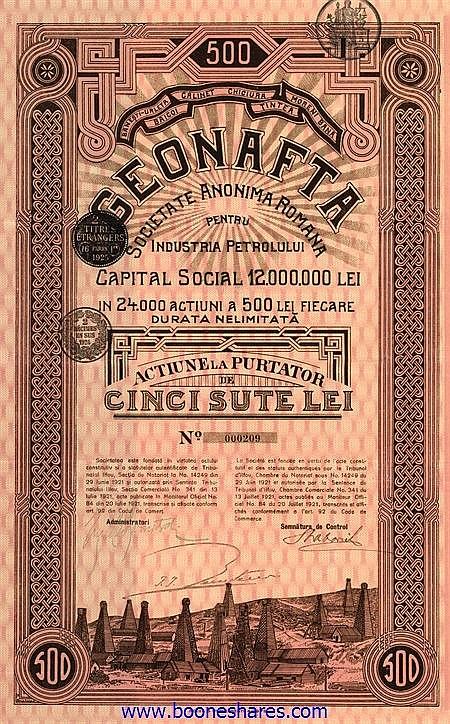 GEONAFTA S.A. ROMANA PENTRU INDUSTRIA PETROLULUI