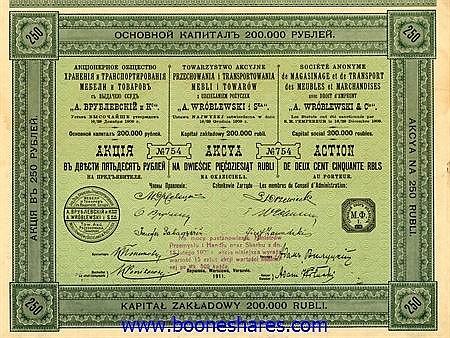 A. WROBLEWSKI & CIE., S.A. DE MAGASINAGE ET DE TRANSPORT DES MEUBLES ET MARCHANDISES