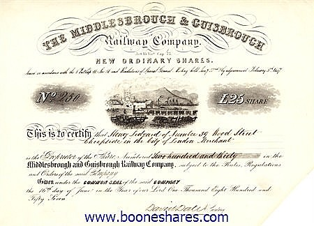 MIDDLESBROUGH & GUISBOROUGH RAILWAY CO.