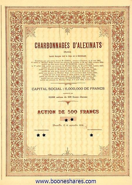 CHARB. D'ALEXINATS S.A.
