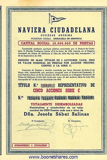 NAVIERA CIUDADELANA S.A.