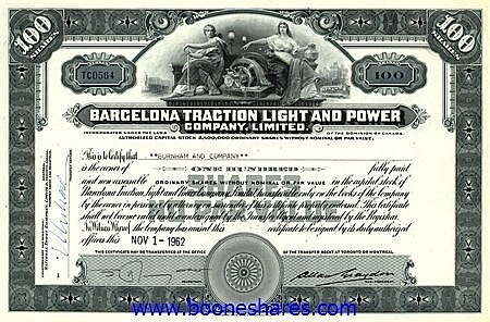 BARCELONA TRACTION LIGHT & POWER CO. LTD.