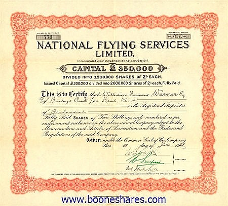 NATIONAL FLYING SERVICES LTD.