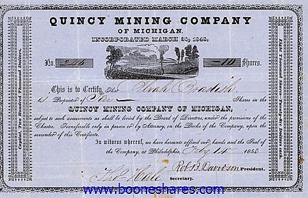 QUINCY MINING CO. OF MICHIGAN