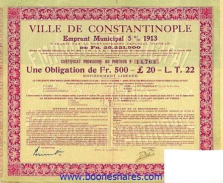 VILLE DE CONSTANTINOPLE