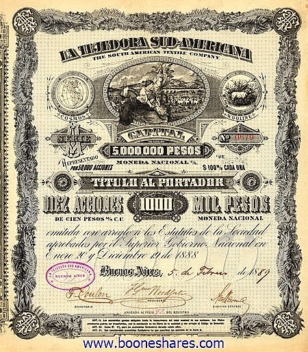 SOUTH AMERICAN TEXTILE CO.