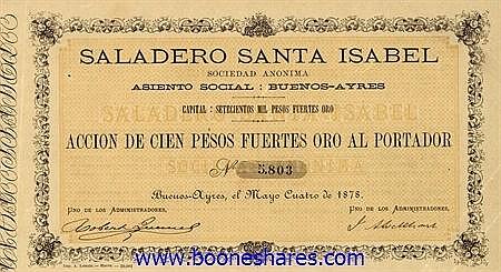 SALADERO SANTA ISABEL S.A.