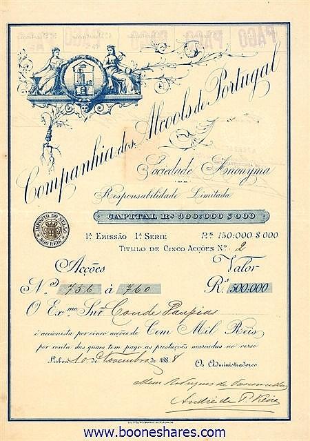 ALCOOLS DE PORTUGAL, CIA (2 types)
