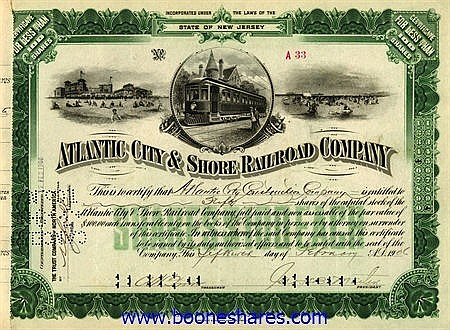 ATLANTIC CITY AND SHORE RAILROAD