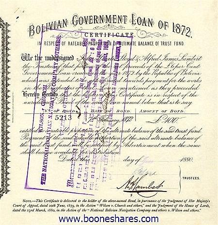 BOLIVIAN GOVERNMENT - TRUST FUND