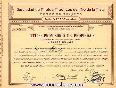 PILOTOS PRACTICOS DEL RIO DE LA PLATA, SOC. DE