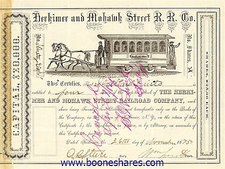 HERKIMER AND MOHAWK STREET RAILROAD CO.