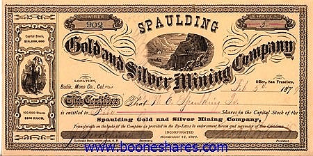 SPAULDING GOLD AND SILVER MINING