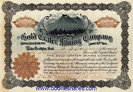 GOLD CRATER MINING CO.