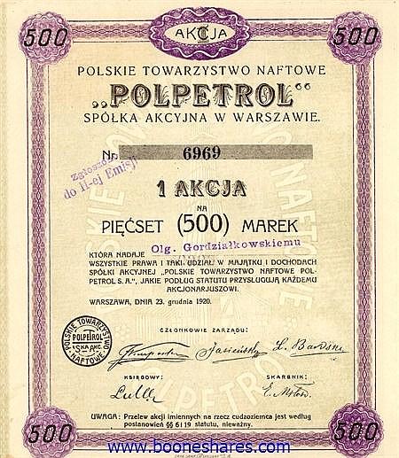 POLPETROL, S.A. POLONAISE DE NAPHTE