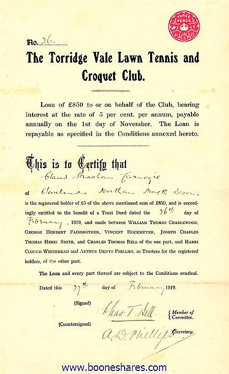 TORRIDGE VALE LAWN TENNIS AND CROQUET CLUB