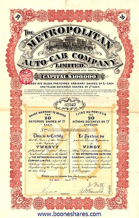 METROPOLITAN AUTO-CAB CO. LTD