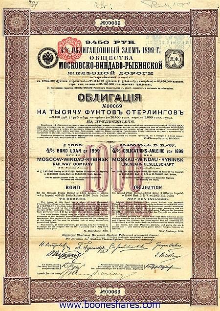 MOSCOW-WINDAU-RYBINSK RAILWAY