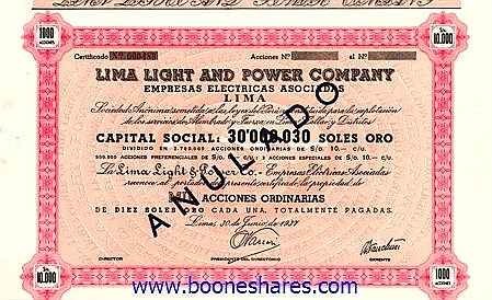 LIMA LIGHT AND POWER CO.
