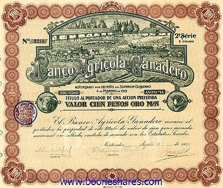 BANCO AGRICOLA CANADERO S.A.